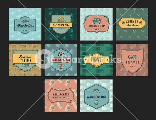 Vector icon set for summer vacation