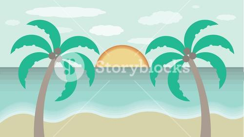 Conceptual vector of summer vacation