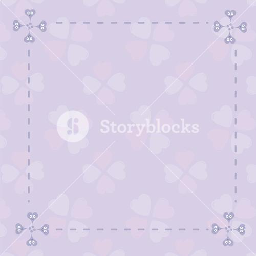 Vector image of frame with heart pattern
