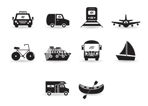 Vector set for transportation icons
