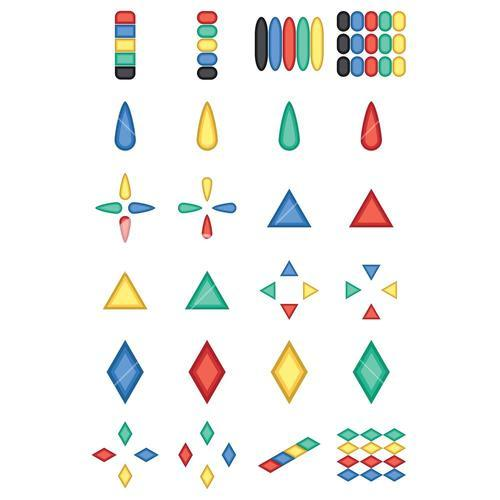 Vector of various colorful geometrical shapes