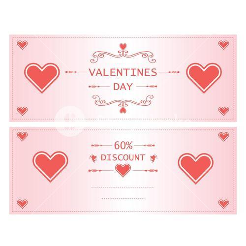 Vector icon of valentine day greeting cards with heart for sale