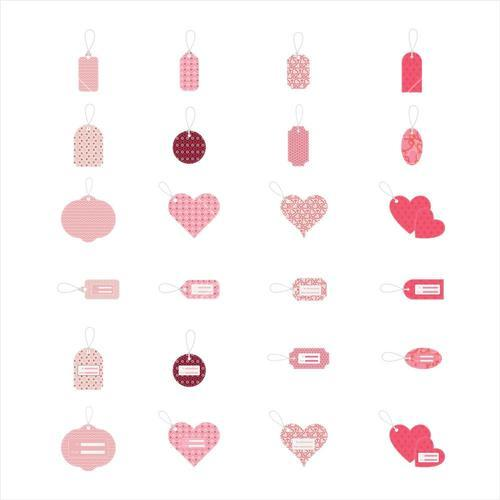 Various vector icon set of message tag