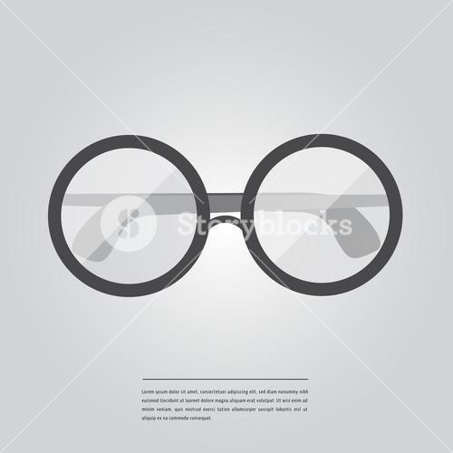 Vector image of spectacles