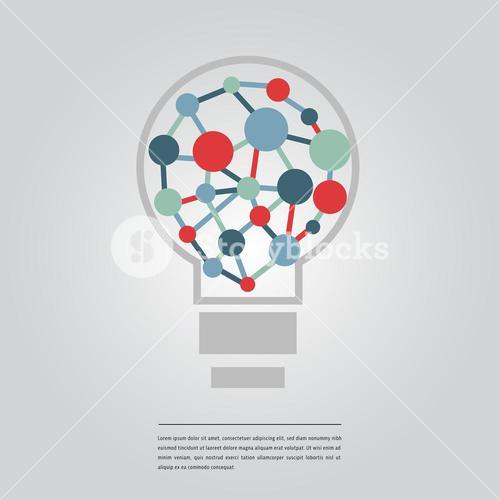 Vector image of methane molecule and lorem ipsum text