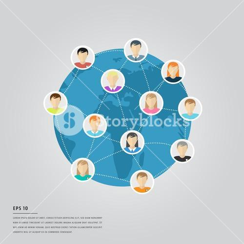 Vector icons of business communication and lorem ipsum text