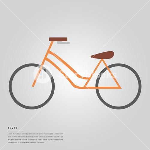 Vector image of bicycle
