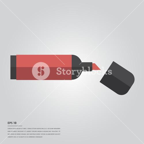 Vector image of red marker