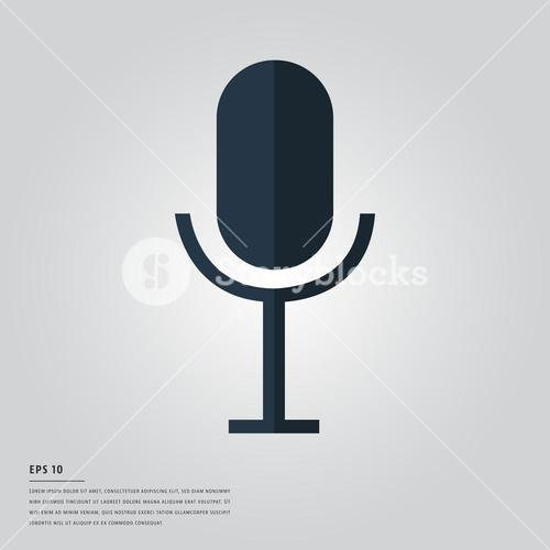 Vector image of microphone
