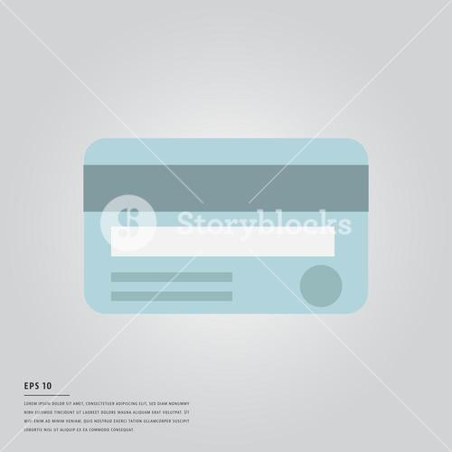 Vector image of credit card