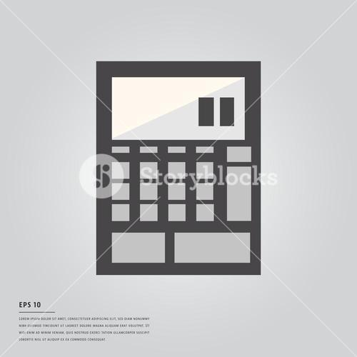 Vector image of calculator