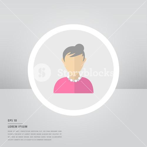 Lorem ipsum text and user sign icon