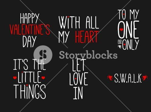 Vector icon of happy valentines day message