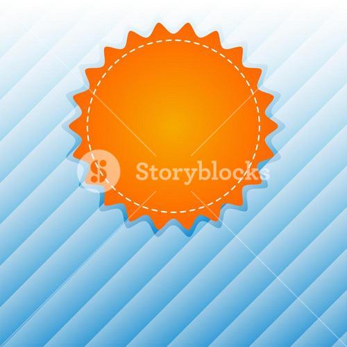 Vector image of blank badge