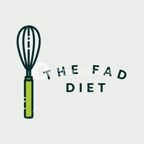 Vector image of egg beater with text get cooking