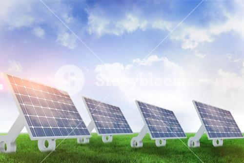 Composite image of sources of renewable energy equipment