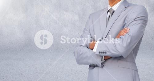 Businessman Torso against a light grey background