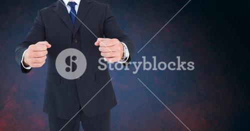 Composite image of Businessman Torso against dark background