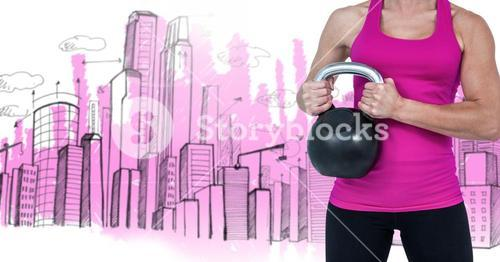 Composite image of woman Fitness Torso