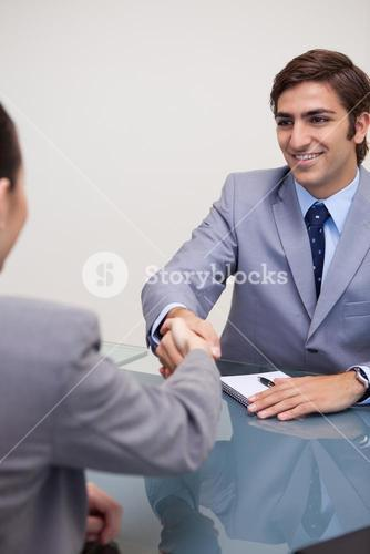 Business partners closing a deal
