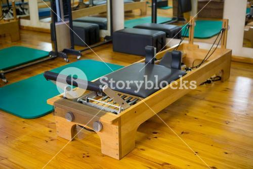 Reformer on wooden floor