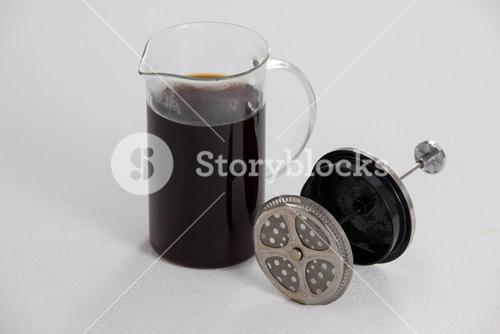 Cafetiere plunger with jug