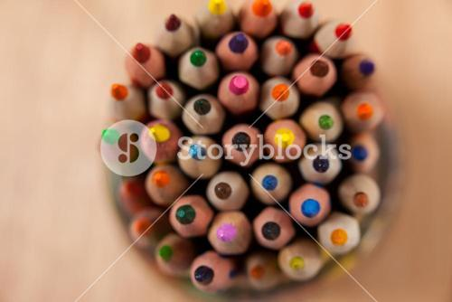 Bunch of colored pencil