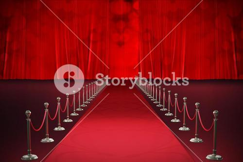 Composite image of digitally generated image of red carpet event