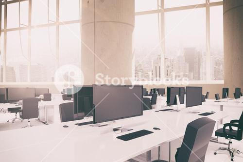 Composite image of office furniture