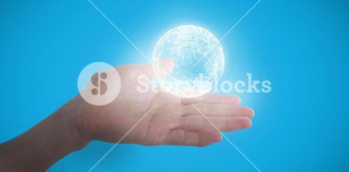 Composite image of cropped image of hand pretending to hold invisible object