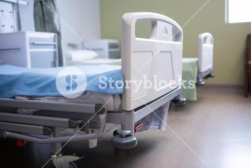Empty beds in ward at hospital