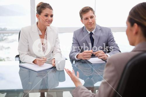 Business people in negotiation