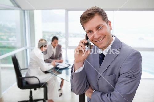 Sales manager on the phone