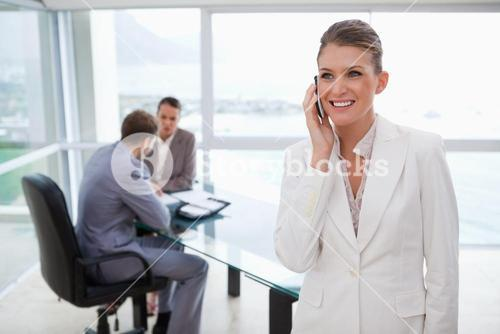 Marketing manager on the phone