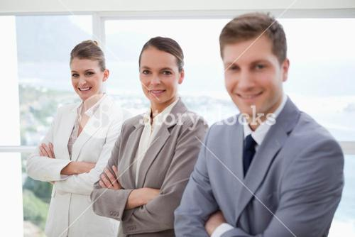 Department manager with his team