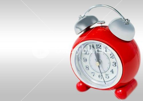 Alarm Clock against grey background