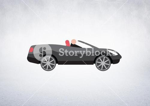 car illustration against white background