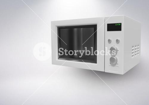3D Microwave against grey background