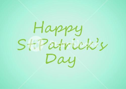 Patrick's Day graphic against blue background
