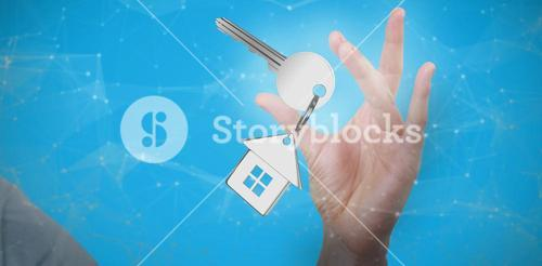 Composite image of hand gesturing against white background 3D