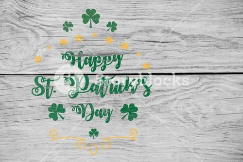 Digital composite of Patricks day greeting