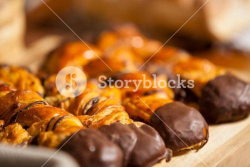 Close-up of baked sweet foods