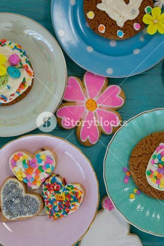 Various sweet foods and confectioneries