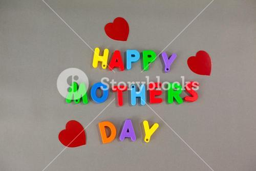 Alphabets displaying happy mothers day