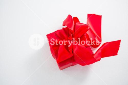 Close-up of red gift box