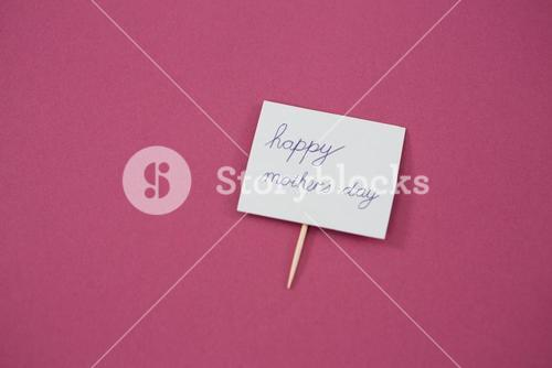 Happy mother day card on pink background