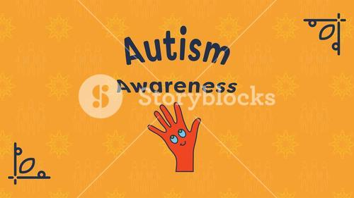 Greeting card with autism awareness message