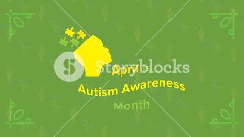 Greeting card with april awareness month message