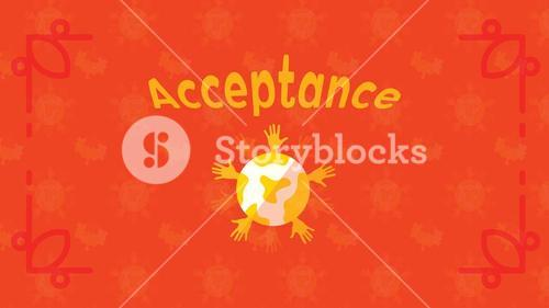 Greeting card with acceptance text