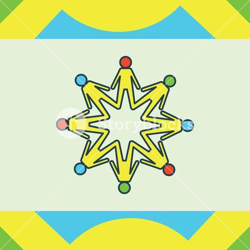 Greeting card with autism unity symbol